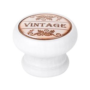 pomo mueble vintage madera laca blanca vintage 450bl27