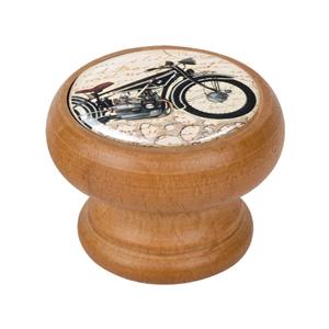 bouton meuble vintage bois couleur miel moto 3 450hm35