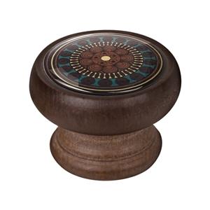 bouton meuble vintage bois couleur noyer arabesque 1 450ng07
