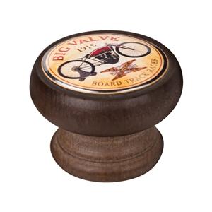 bouton meuble vintage bois couleur noyer big valve 450ng09