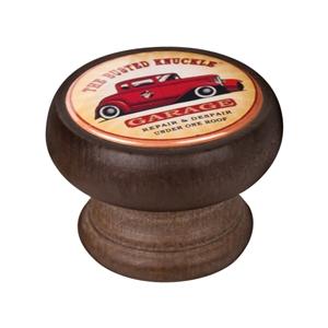 bouton meuble vintage bois couleur noyer garage car 450ng14