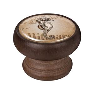 pomo mueble vintage madera tinte nogal caballito mar 450ng58