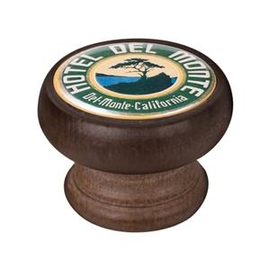bouton meuble vintage bois couleur noyer hotel del monte 450ng66