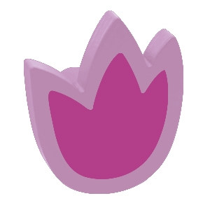 tirador pomo de mueble tulipan madera lacada lila para comoda cajonera infantil 465li2