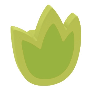 tirador pomo de mueble tulipan madera lacada verde para comoda cajonera infantil 465ve2