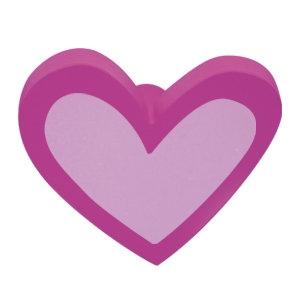 tirador pomo de mueble corazon madera lacada rosa para comoda cajonera infantil 466mg2