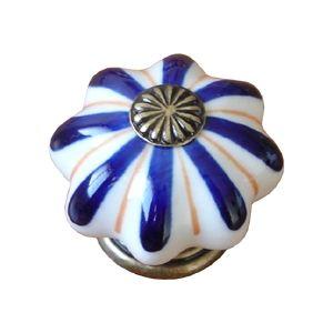 poignee bouton etoile blanc bleu 483j1