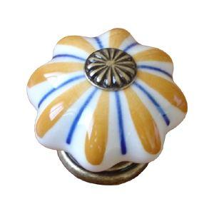 poignee bouton etoile blanc oranger 483j3