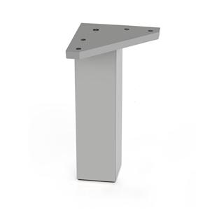pata cuadr. absaluminio mate accesorios patas mueble n279