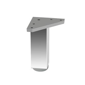pata cuadrada aluminio brillo accesorios patas mueble n297