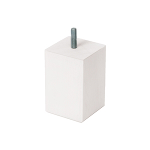 pata mueble madera cuadrada haya laca blanca ap1605