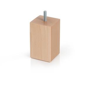 pata madera cuadr.haya laca natural accesorios patas mueble n338