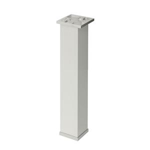 pata mesa diseño cuadrada aluminioanodiz. mate accesorios patas mueble n345