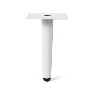 pata recta conica 150mm blanca mueble nordico escandinavo pied metal conique droit 150mm finition blanc meuble nordique scandinave