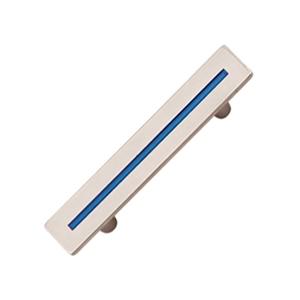 tiradores asa cromado con linea azul mueble juvenil 588 514az
