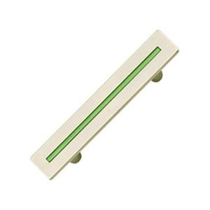 tiradores asa cromado con linea verde mueble juvenil 591 514ve