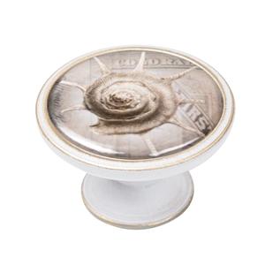 pomo mueble vintage bronce con patina blanca caracol mar 550bb60