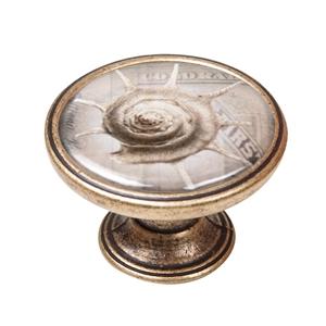 pomo mueble vintage bronce viejo caracol mar 550br60