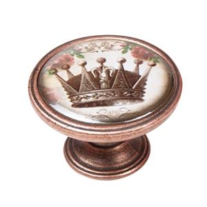 vintage cabinet knob antique copper crown 1 550cb54