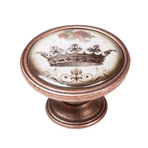 vintage cabinet knob antique copper crown 2 550cb55