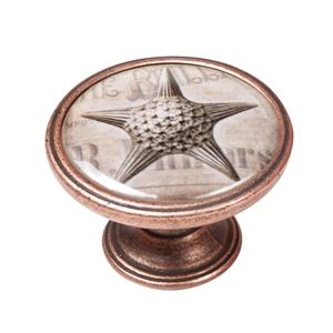 pomo mueble vintage cobre viejo estrella mar 550cb57