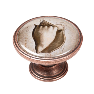 pomo mueble vintage cobre viejo concha mar 550cb59