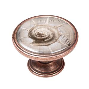 pomo mueble vintage cobre viejo caracol mar 550cb60