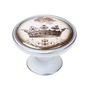 vintage cabinet knob patinated silver crown 2 550pb55