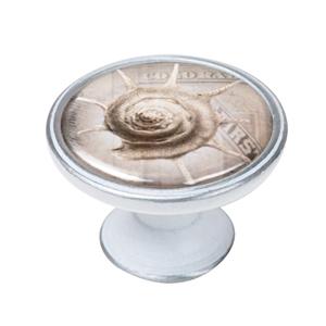 pomo mueble vintage plata con patina blanca caracol mar 550pb60