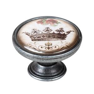 vintage cabinet knob old silver crown 2 550pt55