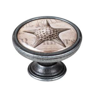 pomo mueble vintage plata vieja estrella mar 550pt57
