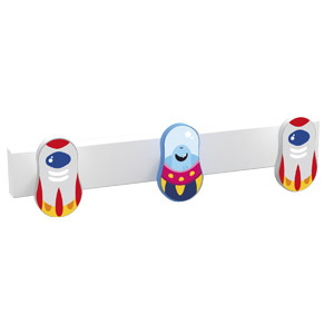 percha 3 pomo de muebles naves espaciales diseno infantil ninos 9006rbl
