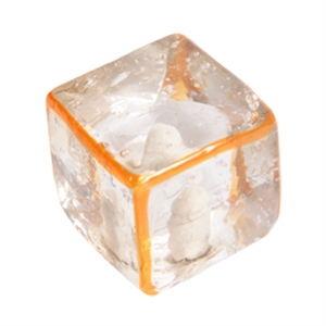pomo tirador arista naranja cristal artesanal 556na