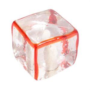 pomo tirador arista roja cristal artesanal 556rj