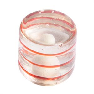 red rings cylinder handcraft glass 557rj