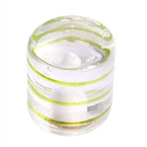 green rings cylinder handcraft glass 557ve