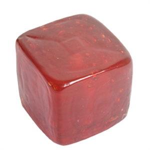 pomo tirador cuadrado rojo cristal artesanal 558rj