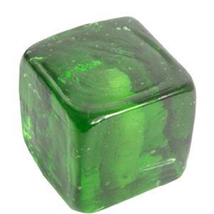 pomo tirador cuadrado verde cristal artesanal 558ve