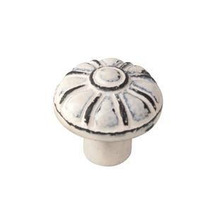 knob antique metal patinated white vintage shabby chic furniture handle tienda precio venta online 563bl