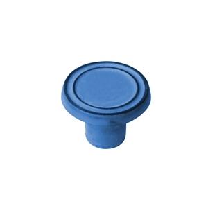 bouton fer vieilli patine bleu poignee meuble shabby chic vintage 564az