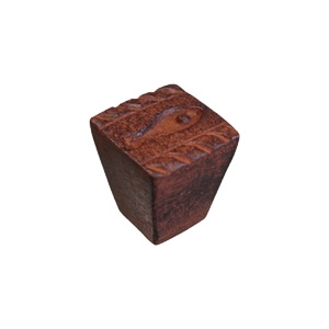 rust iron handle knob 22x22mm 5964x