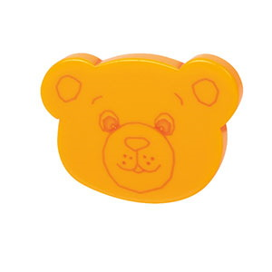 bouton ourse methacrylate jaune porte meuble bain n619