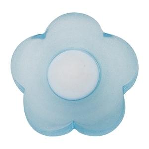 poignee bouton fleur ronde bleu meuble enfants 606az
