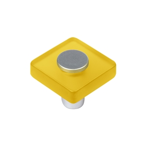 yellow metacrylate with dull chrome fitting kids children furniture handle 62 621am
