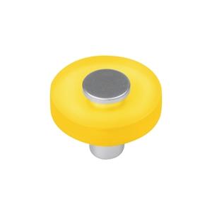pomos tiradores metacrilato amarillo con cromo mate mueble juvenil 622am