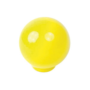 ball abs 24mm yellow shiny finish furniture knob youth design 626am