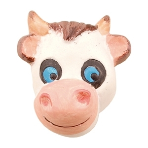 pomo tirador vaca ceramica pintada a mano 632c0