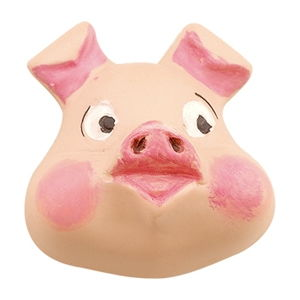 hand painted ceramic pig 633c0