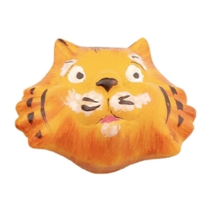 pomo tirador tigre ceramica pintada a mano 635c0