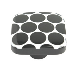 black dots methacrylate knob kids children furniture handle 651ne